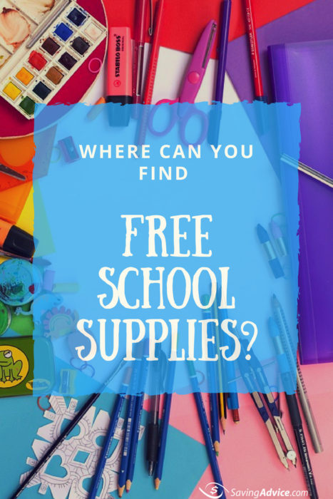 free school supplies, back to school deal, school supplies promo