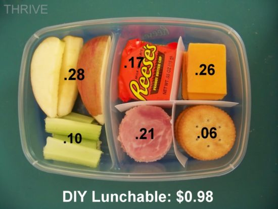 back to school DIY lunchable