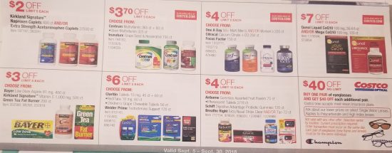 Costco September 2018 Coupon Book