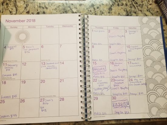 how to use a calendar to save money