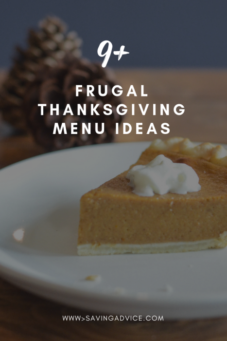frugal thanksgiving menu ideas