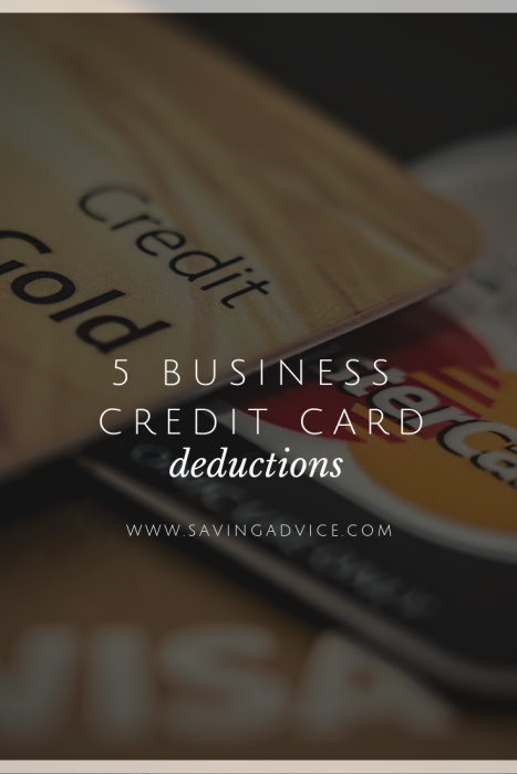 Business credit card deductions
