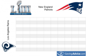 printable super bowl squares chart