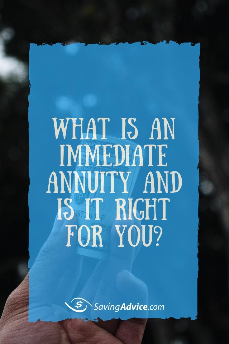 immediate annuity
