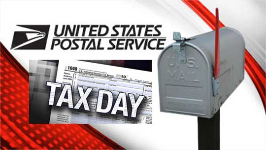 post office hours on tax day