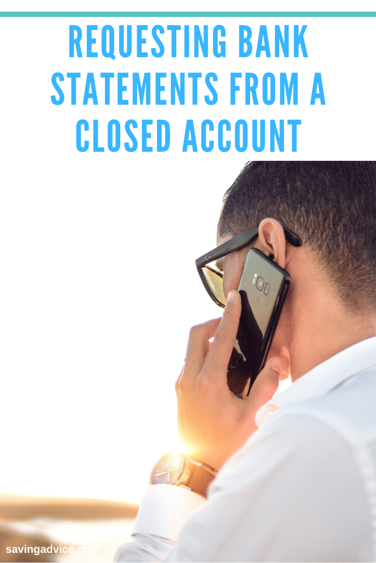 request bank statement from a closed account