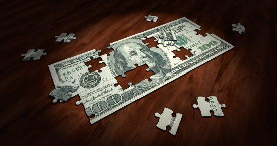 ripped dollar bill