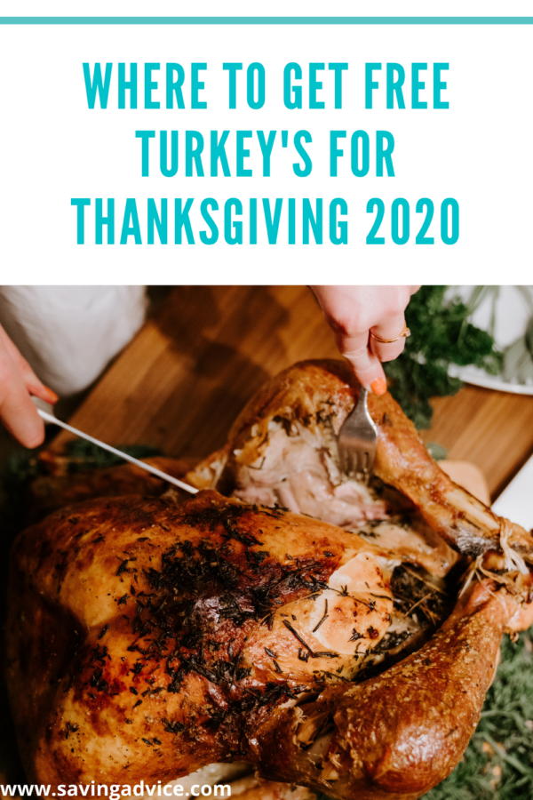 Where to Get Free Turkey's for Thanksgiving 2020
