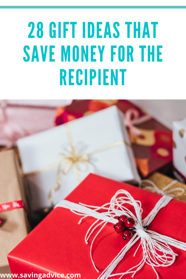 28 Gift Ideas That Save Money For The Recipient